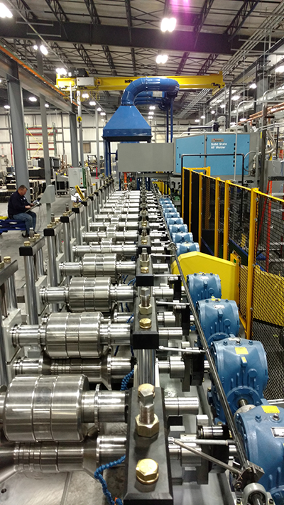welded tube custom manufacturing line